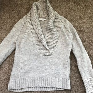 Woman's open v neck sweater